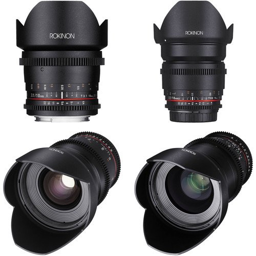 Rokinon Cine DS Wide-Angle Lens Kit for APS-C (Sony Alpha)
