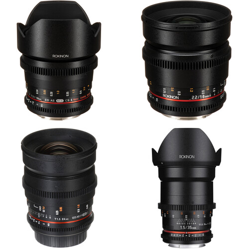 Rokinon Cine DS Wide-Angle Lens Kit for APS-C (Canon EF)