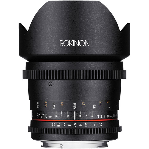 Rokinon 10mm T3.1 Cine Lens for Canon EF Mount