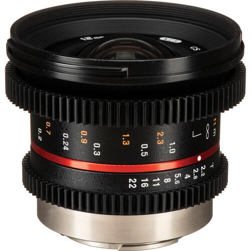 Rokinon 12mm T2.2 Cine Lens for Fuji X Mount