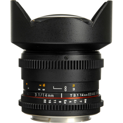 Rokinon 14mm T3.1 Cine ED AS IF UMC Lens for Micro Four Thirds Mount