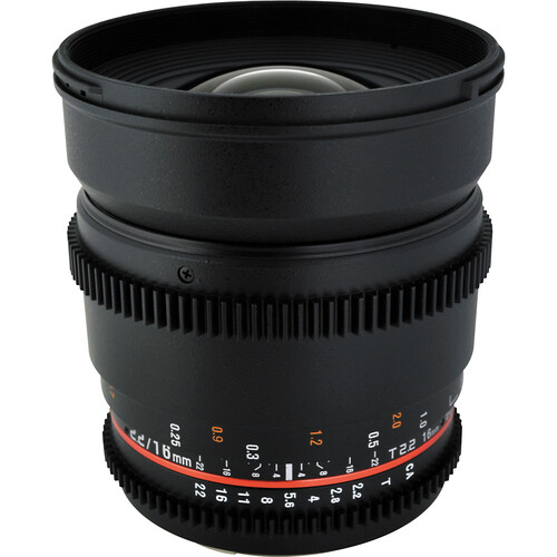 Rokinon 16mm T2.2 Cine Lens for Nikon F