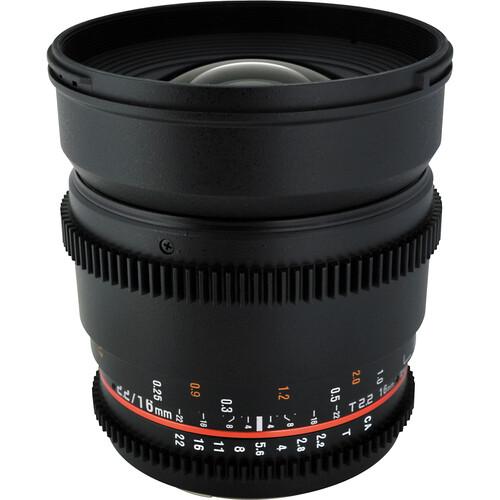 Rokinon 16mm T2.2 Cine Lens for Sony A