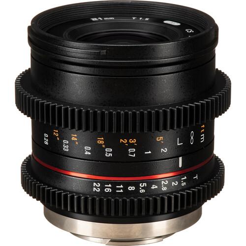 Rokinon 21mm T1.5 Compact High-Speed Cine Lens for Fujifilm X
