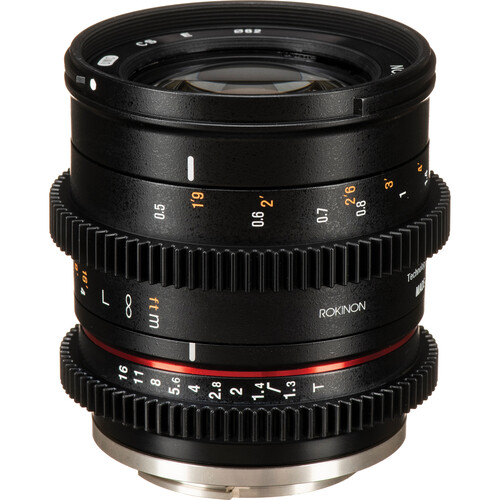 Rokinon 50mm T1.3 Compact High-Speed Cine Lens for Sony E