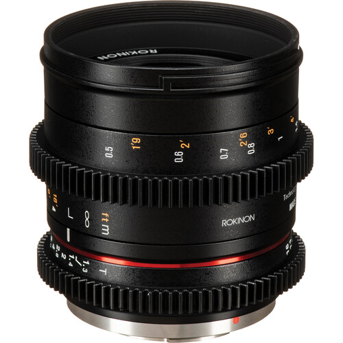 Rokinon 50mm T1.3 Compact High-Speed Cine Lens for Micro Four Thirds