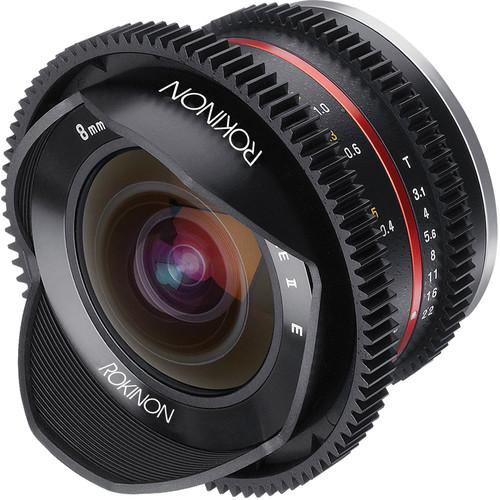 Rokinon 8mm T3.1 Cine UMC Fisheye II Lens for Canon EF-M Mount