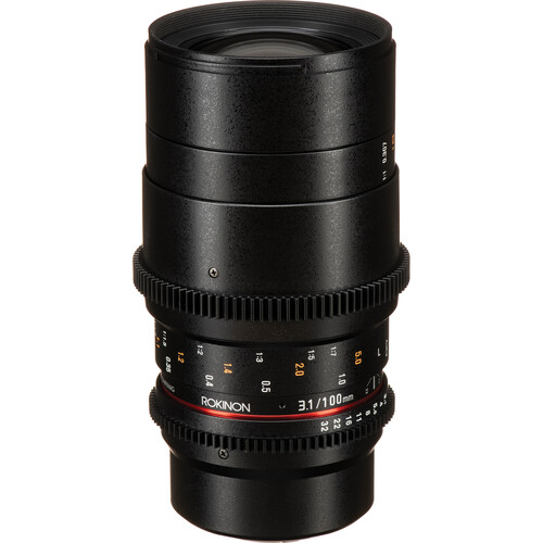 Rokinon 100mm T3.1 Macro Cine DS Lens for Micro Four Thirds Mount