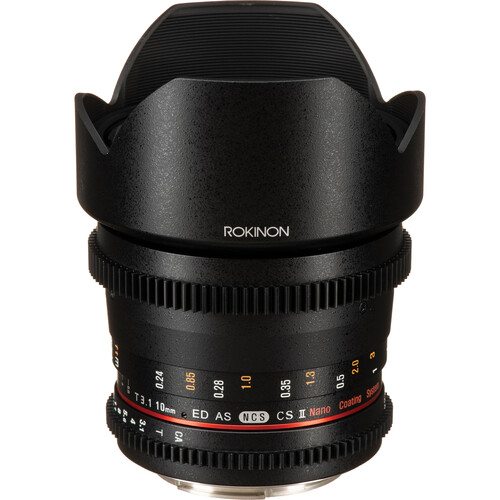 Rokinon 10mm T3.1 Cine DS Lens with Canon EF Mount for APS-C