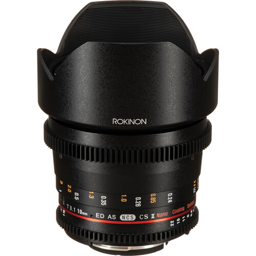 Rokinon 10mm T3.1 Cine DS Lens with Nikon F Mount for APS-C