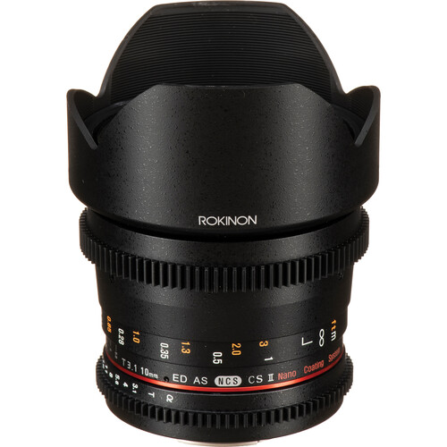 Rokinon 10mm T3.1 Cine DS Lens with Sony Alpha Mount for APS-C