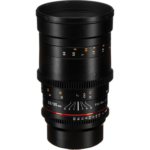 Rokinon 135mm T2.2 Cine DS Lens for Micro Four Thirds Mount