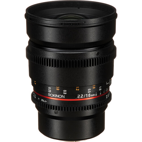 Rokinon 16mm T2.2 Cine DS Lens for Micro Four Thirds Mount for APS-C