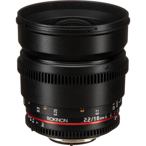 Rokinon 16mm T2.2 Cine DS Lens for Nikon F Mount for APS-C
