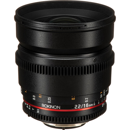 Rokinon 16mm T2.2 Cine DS Lens for Nikon F Mount for APS-C