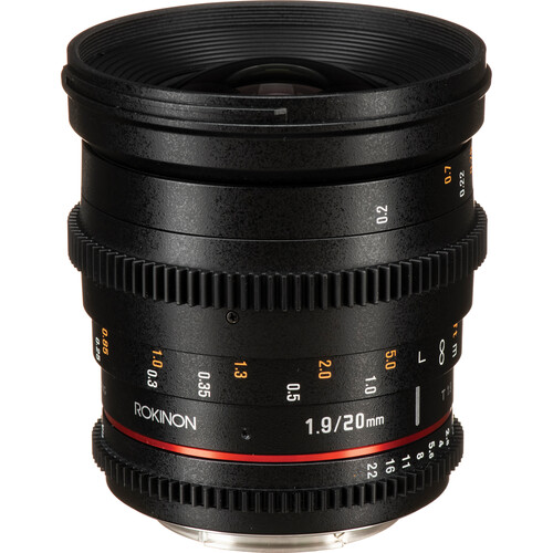 Rokinon 20mm T1.9 Cine DS Lens for Canon EF