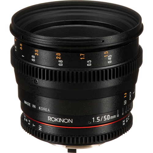 Rokinon 50mm T1.5 AS UMC Cine DS Lens for Nikon F Mount