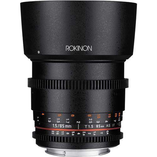 Rokinon 85mm T1.5 Cine DS Lens for Canon EF Mount