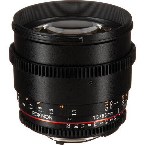 Rokinon 85mm T1.5 Cine DS Lens for Nikon F Mount