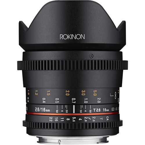 Rokinon 16mm T2.6 Full Frame Cine DS Lens (Canon EF Mount)