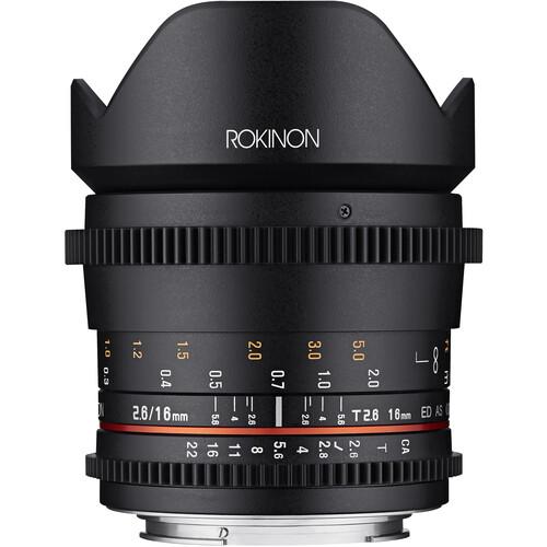 Rokinon 16mm T2.6 Full Frame Cine DS Lens (MFT Mount)