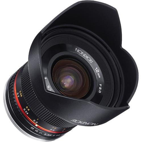 Rokinon 12mm f/2.0 NCS CS Lens for Samsung NX Mount (Black)