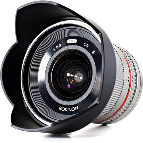 Rokinon 12mm f/2.0 NCS CS Lens for Samsung NX Mount (Silver)
