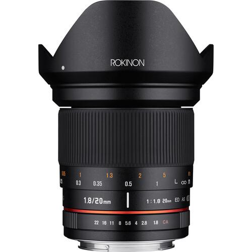 Rokinon 20mm f/1.8 ED AS UMC Lens for Canon EF