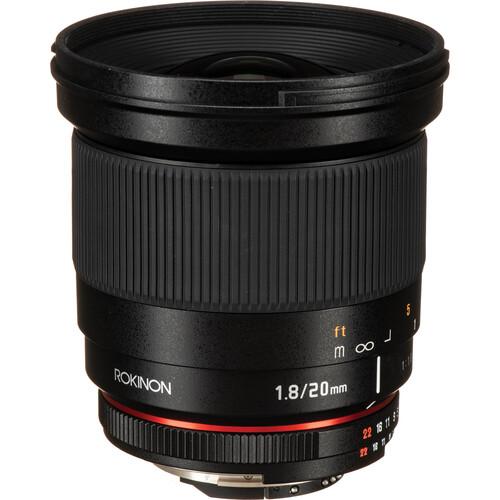 Rokinon 20mm f/1.8 ED AS UMC Lens for Nikon F