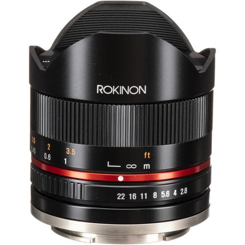 Rokinon 8mm f/2.8 UMC Fisheye II Lens for Sony E (Black)