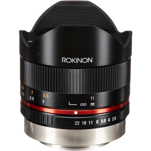 Rokinon 8mm f/2.8 UMC Fisheye II Lens for Fujifilm X Mount (Black)