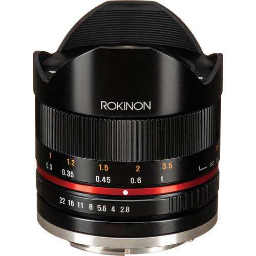 Rokinon 8mm f/2.8 UMC Fisheye II Lens for Canon EF-M (Black)