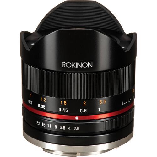 Rokinon 8mm f/2.8 UMC Fisheye II Lens for Canon EF-M Mount (Black)