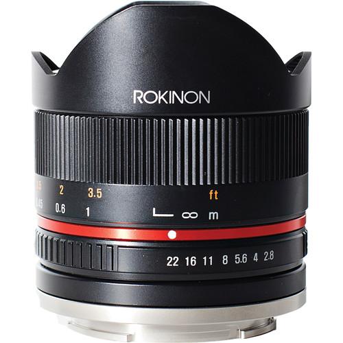 Rokinon 8mm f/2.8 UMC Fisheye II Lens for Samsung NX Mount (Black)