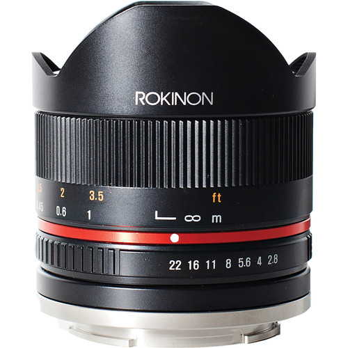 Rokinon 8mm f/2.8 UMC Fisheye II Lens for Samsung NX Mount (Black)