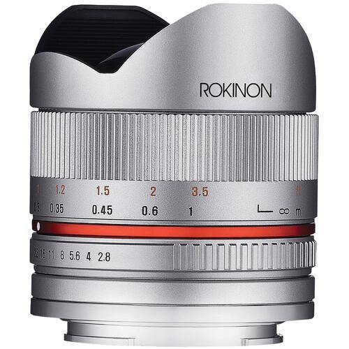 Rokinon 8mm f/2.8 UMC Fisheye II Lens for Sony E Mount (Silver)