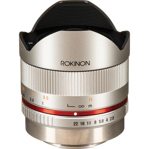 Rokinon 8mm f/2.8 UMC Fisheye II Lens for FUJIFILM X (Silver)