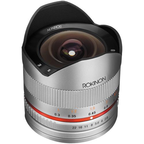 Rokinon 8mm f/2.8 UMC Fisheye II Lens for Samsung NX Mount (Silver)