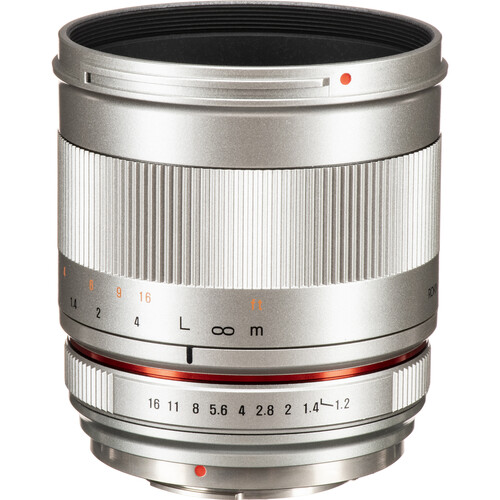Rokinon 50mm f/1.2 Lens for Micro Four Thirds (Silver)