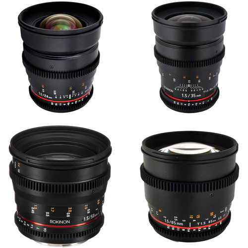 Rokinon Rokinon T1.5 Cine Lens Bundle for Canon EF-Mount
