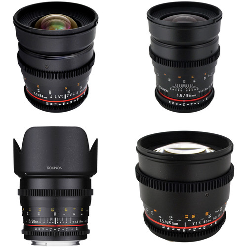 Rokinon T1.5 Cine Lens Bundle for Nikon F-Mount