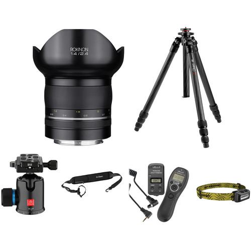 Rokinon SP 14mm f/2.4 Lens Astrophotography Kit for Nikon F