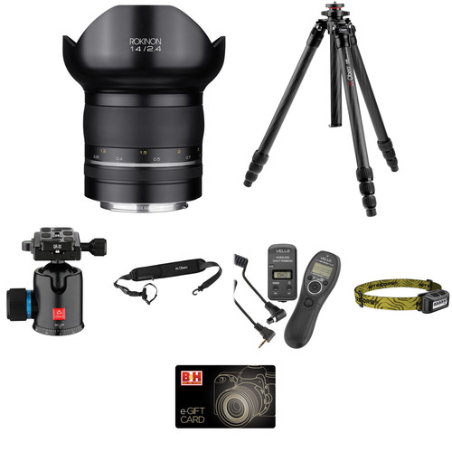 Rokinon SP 14mm f/2.4 Lens Astrophotography Kit for Canon EF