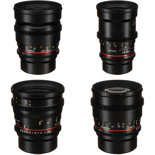Rokinon 16, 35, 50, 85mm Cine DS Lens Bundle for MFT Mount