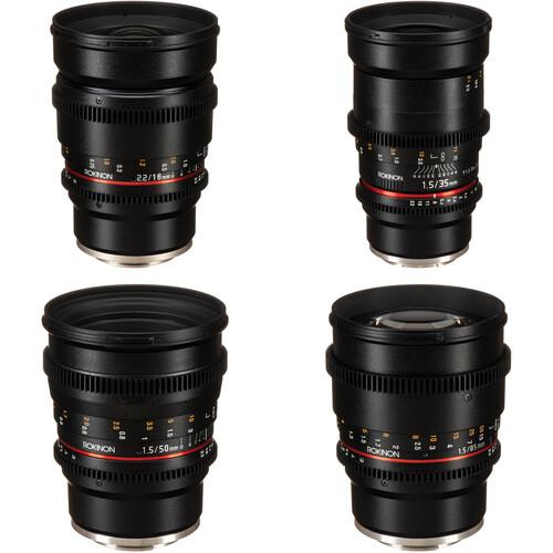 Rokinon 16, 35, 50, 85mm Cine DS Lens Bundle for Sony E Mount