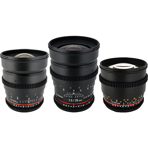 Rokinon T1.5 Cine Lens Bundle for Sony A-Mount