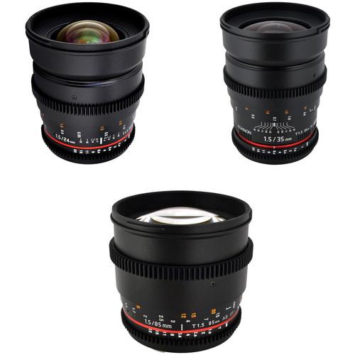 Rokinon T1.5 Cine Lens Bundle for Canon EF-Mount
