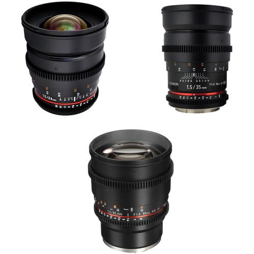 Rokinon T1.5 Cine Lens Bundle for Sony E-Mount