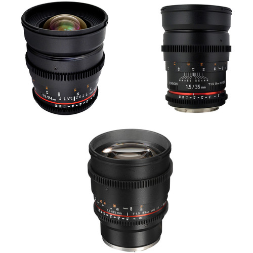 Rokinon T1.5 Cine Lens Bundle for Sony E-Mount