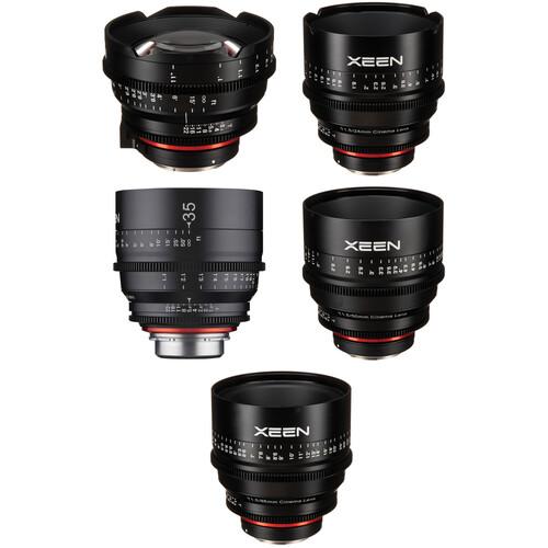 Rokinon Xeen 14, 24, 35, 50, 85mm Cine Lens Bundle (Canon EF)